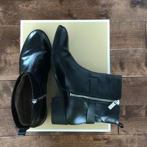 Michael Kors Leather Ryan Ankle Boots- Size 9 (40)
